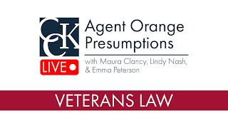 Agent Orange Presumptions