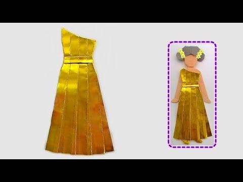 Origami long evening dress / พับกระดาษ ชุดราตรีกระโปรงยาว