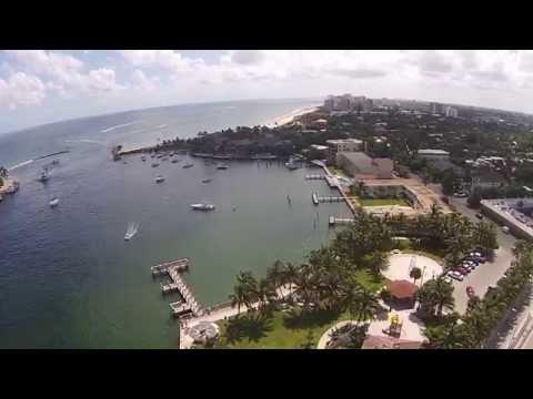 FLorida Atlantic coastline flyover DJI Phantom Vision 2 Plus