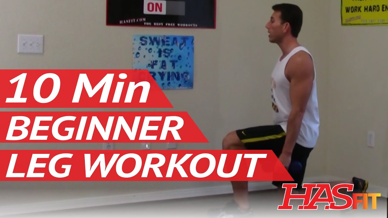 10 min beginner leg workout for women & men at home easy leg