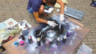 5$ за 5 минут.  Уличный художник.