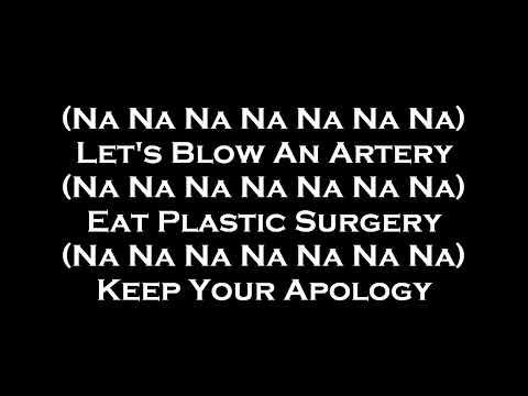 My Chemical Romance - Na Na Na Lyrics on screen