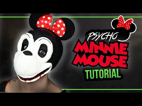 PSYCHO MINNIE MAUS – Minnie Mouse Halloween Mask Tutorial Kostüm #spooktober