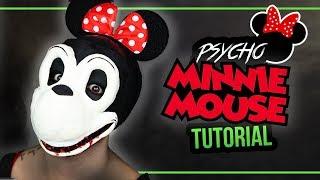 PSYCHO MINNIE MAUS - Minnie Mouse Halloween Mask Tutorial Kostüm #spooktober