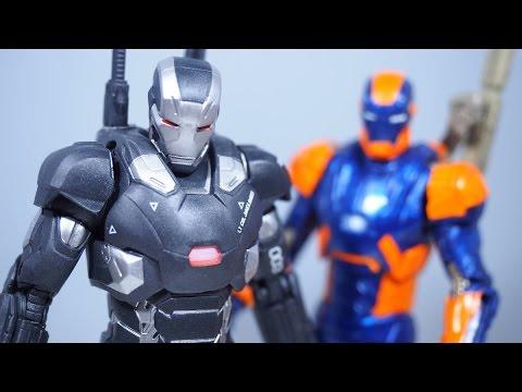 Marvel Legends Civil War WAR MACHINE and Iron Man Mk 27 Figure Review