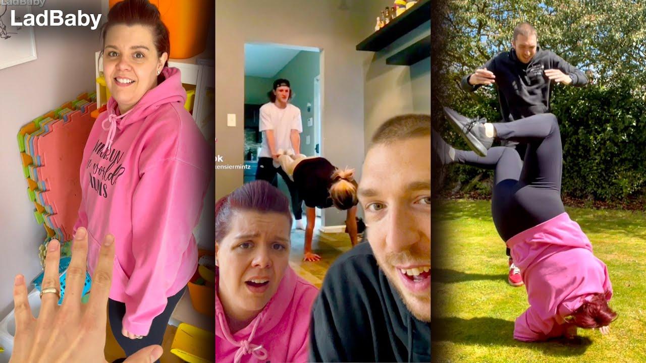 When Mum & Dad try the wheelbarrow flip challenge 🤕🤣