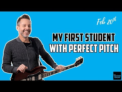My First Student With Perfect Pitch - LIVE