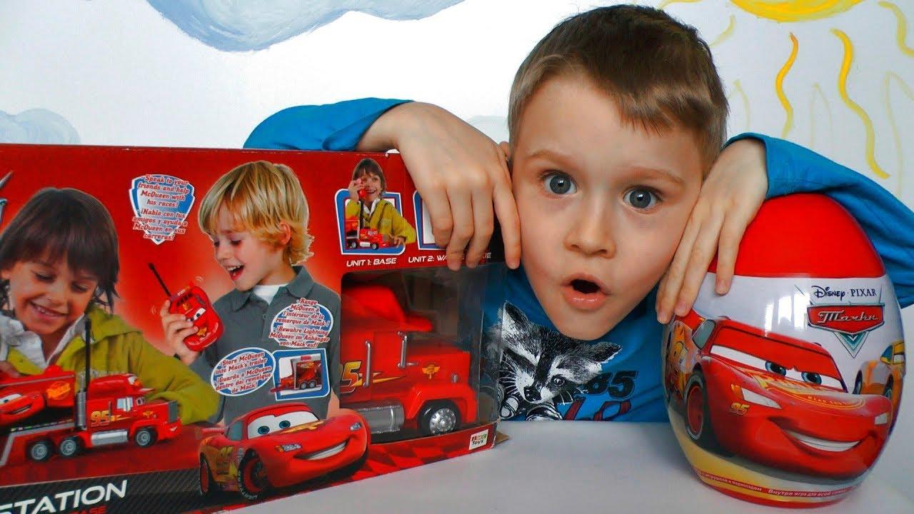 Молния Маквин и Огромное Яйцо Тачки Игрушки для детей
