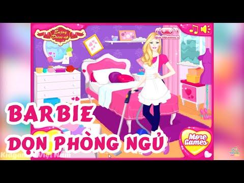 Trò Chơi Barbie Dọn Phòng Ngủ - Game Barbie Dọn Nhà