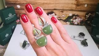 настроение НЕФРИТ Серебряные украшения ручной работы с натуральными камнями #серебро  #самоцветы