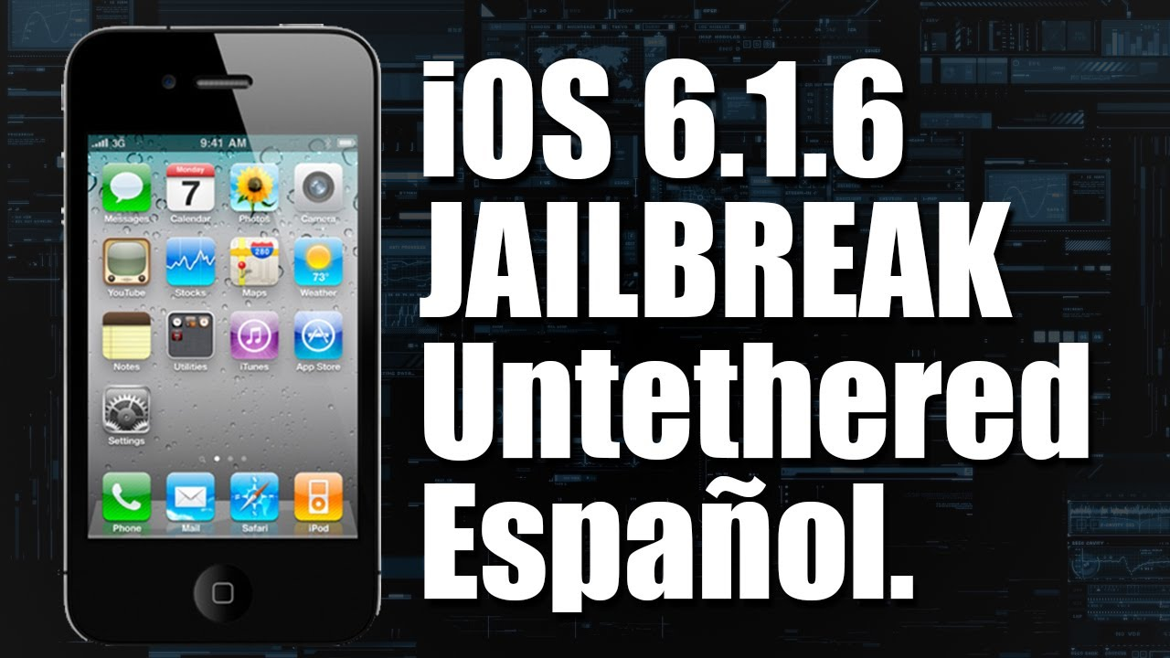 Tutorial Ios 616 Jailbreak Untethered  Ipod Iphone