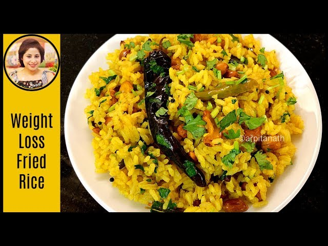 Tamarind Rice / Pulihora Rice Recipe - Healthy Lunchbox Recipe for Weight Loss