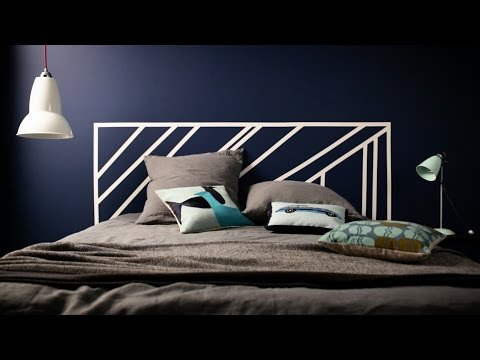 Trick to Try: Painted Graphic Headboard - Dulux