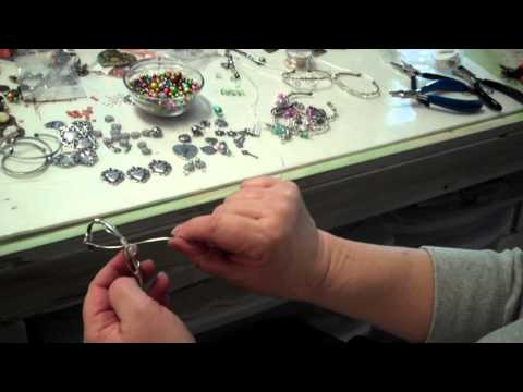 Charm Bracelets a New Way:  Wire Wrapped Charms And Silver Cuffs