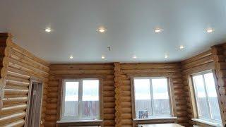 Натяжные потолки зимой на даче без отопления
