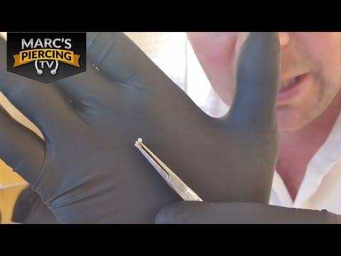 TRAGUS Piercing Mit Maria Tash Invisible Set Diamond Goldstecker 💉 Marc's Piercing TV
