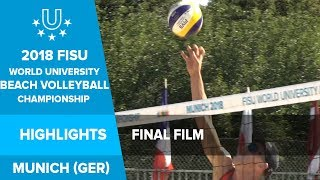 Highlights from the 2018 World University Beach Volleyball Championship