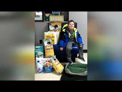 Boy With Brain Tumor Asks Birthday Guests To Donate Gifts To Animal Shelter