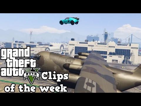 Landing a car on a plane... MID FLIGHT! - GTA 5 Clips of the week #8