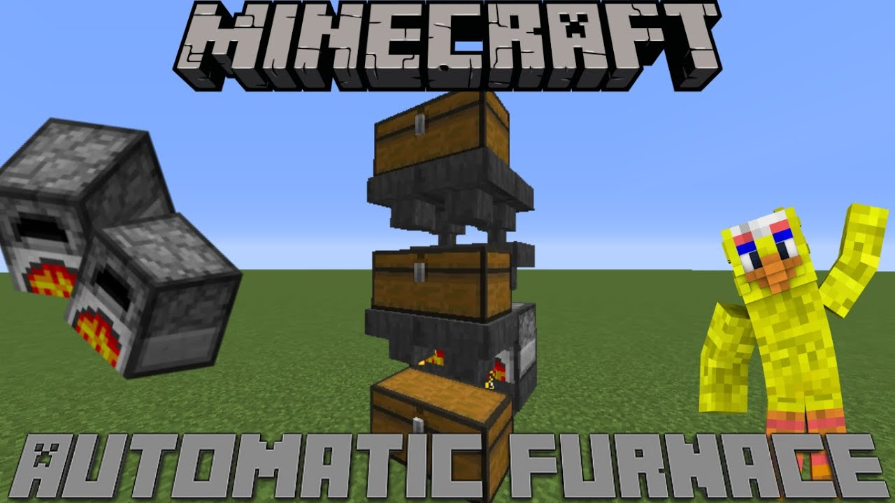 Minecraft Automatic Furnace 1.10 & 1.11/ Xbox / PS4 / Wii ...