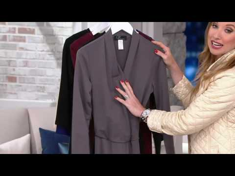GK George Kotsiopoulos Long Sleeve Jumpsuit with Tie Waist on QVC