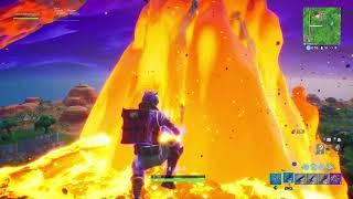 Fortnite Season X landing on meteor & getting B.R.U.T.E elimination gameplay