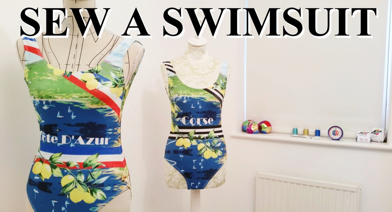 Diy How To Make A Swimsuit Youtube