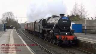 """LMS Stanier Class 5 4-6-0 """"Black Five"""" number 44871 at Patricroft on Monday 07th January 2013"""