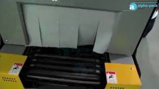 Semi Automatic Sealing and Shrink Machine AP 1622A + APT 1810 for Cosmetic Carton
