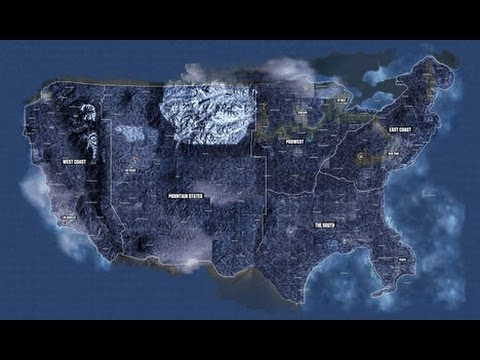 The Crew Official Map United States YouTube - The crew us map