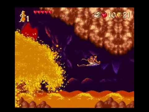 Let's Play Aladdin SNES Level 3: Escape from the Cave of Wonders