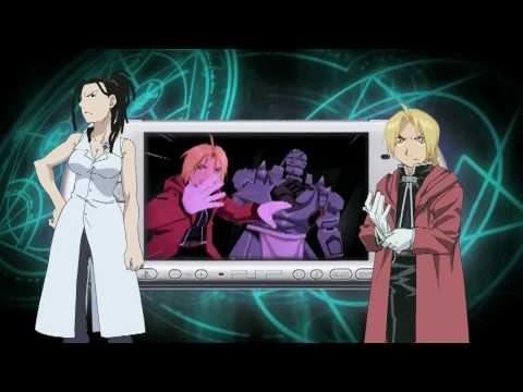 Full Metal Alchemist Brotherhood HD PSP video game trailer
