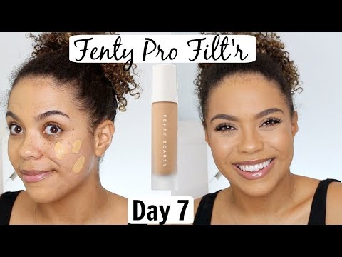 Fenty Pro Filt'r Foundation Review/Wear Test   12 DAYS OF FOUNDATION DAY 7