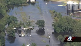 Sky 4 tour shows flood damage from Hurricane Florence