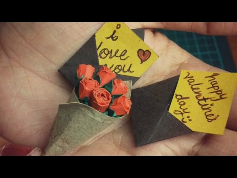 DIY Miniature Roses and Envelope | How To Craft - Anushree's Craft TV