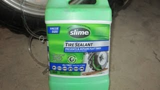How to Slime an ATV Tire - DIY How to Repair a Leaking Tire - Seal Weather Cracked Sidewalls