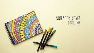 Notebook Cover Doodle    Zentangle    DIY Notebook Cover