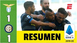 Lazio 1-1 Inter de Milán GOL de Lautaro Martínez. Arturo Vidal titular. Immobile expulsado | Serie A