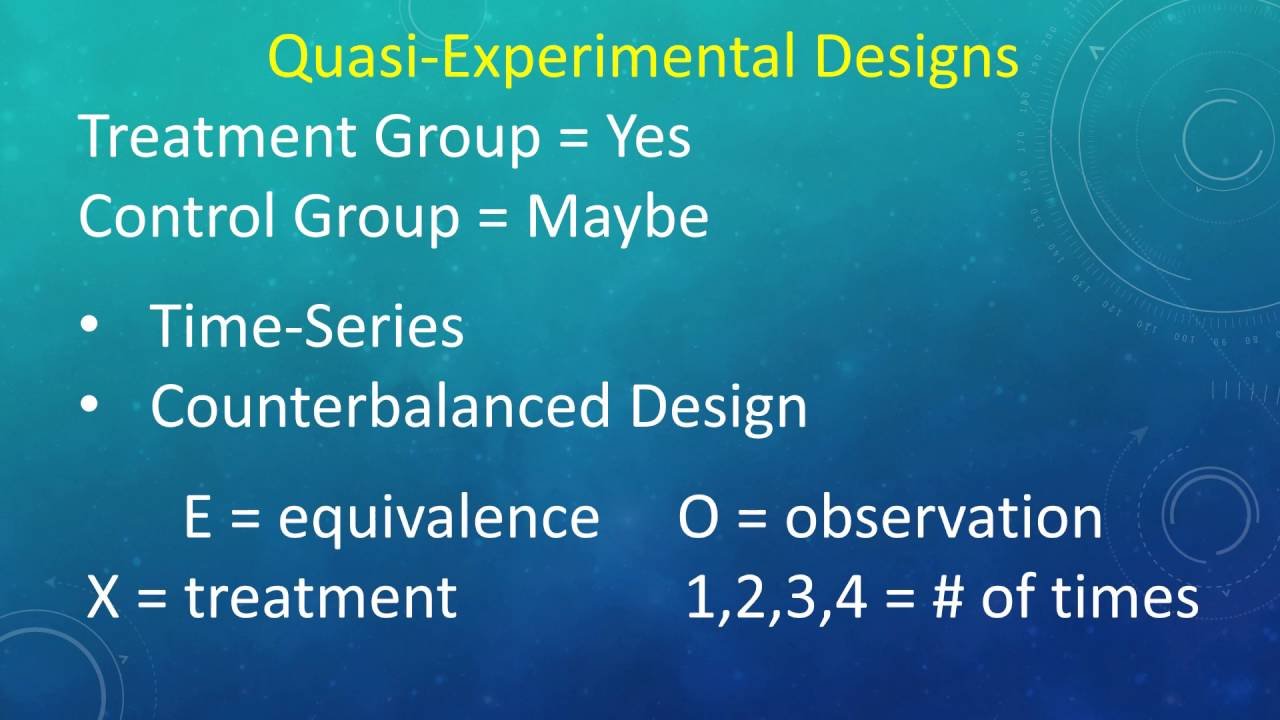 experimental vs quasi experimental Pre-experimental designs pre-experiments are the simplest form of research design in a pre-experiment either a single group or multiple groups are observed subsequent to some agent or treatment presumed to cause change.