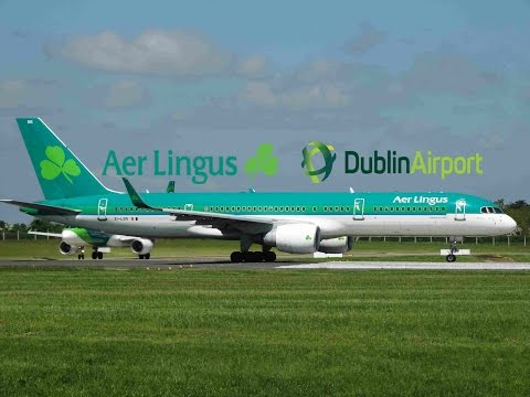 Aer Lingus 757-200 Amazing Close Up Takeoff from Dublin Airport!