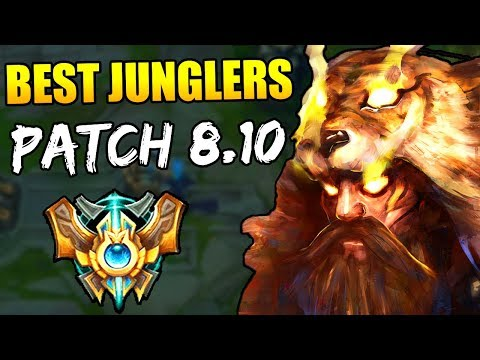 MOST BROKEN JUNGLERS REVEALED FOR PATCH 8.10!! | Jungle Tier List | Solo Queue