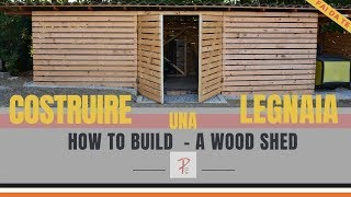 MODERN FIREWOOD STORAGE - HOW TO BUILD