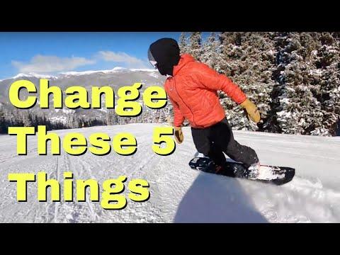 Habits that make snowboarding way harder  Beginner Guide