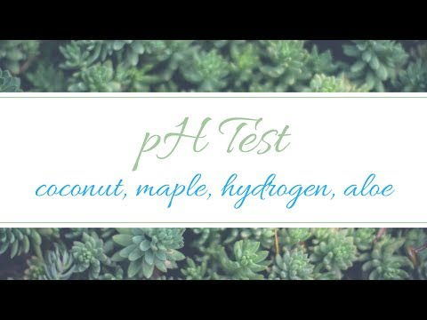 Hydrogen Water, Coconut Water, Maple Water, Aloe Water Test