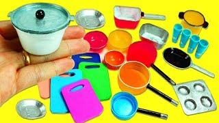 10 DIY Miniatures Kitchen / Cooking  Stuff  #1- Each in less than 1 minute - simplekidscrafts