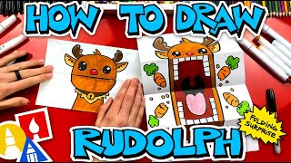 How To Draw A Rudolph Puppet - Folding Surprise