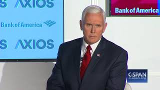 "VP Pence: ""I think the White House could have handled this better."" (C-SPAN)"