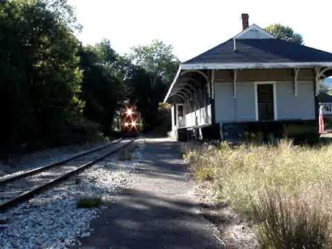 Conway Scenic Railroad  Freight at Intervale depot NH