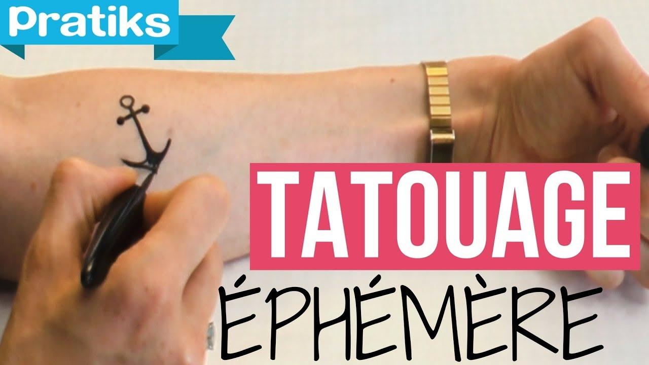 Comment Faire Un Tatouage Ephemere Youtube