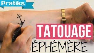 Comment faire un tatouage éphémère ?